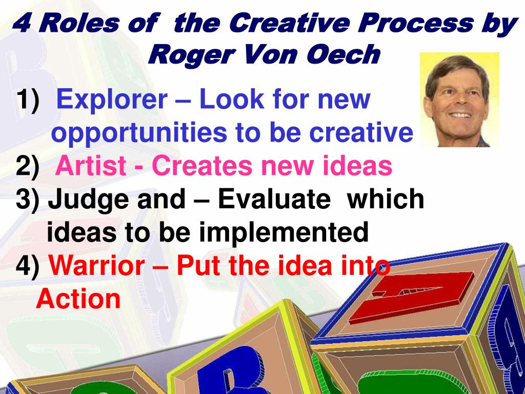 4 Roles of  the Creative Process by Roger Von Oech