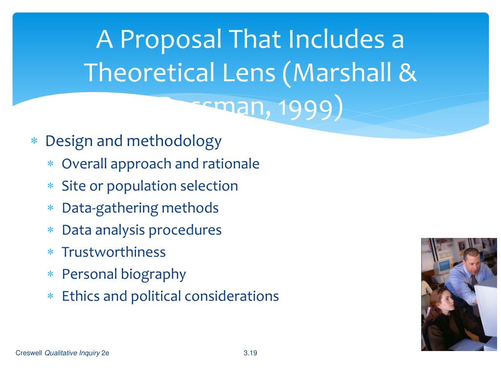 A Proposal That Includes a Theoretical Lens (Marshall &