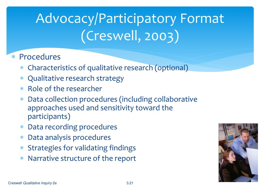 Advocacy/Participatory Format