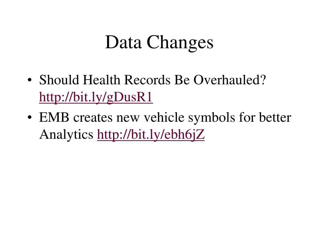 Data Changes
