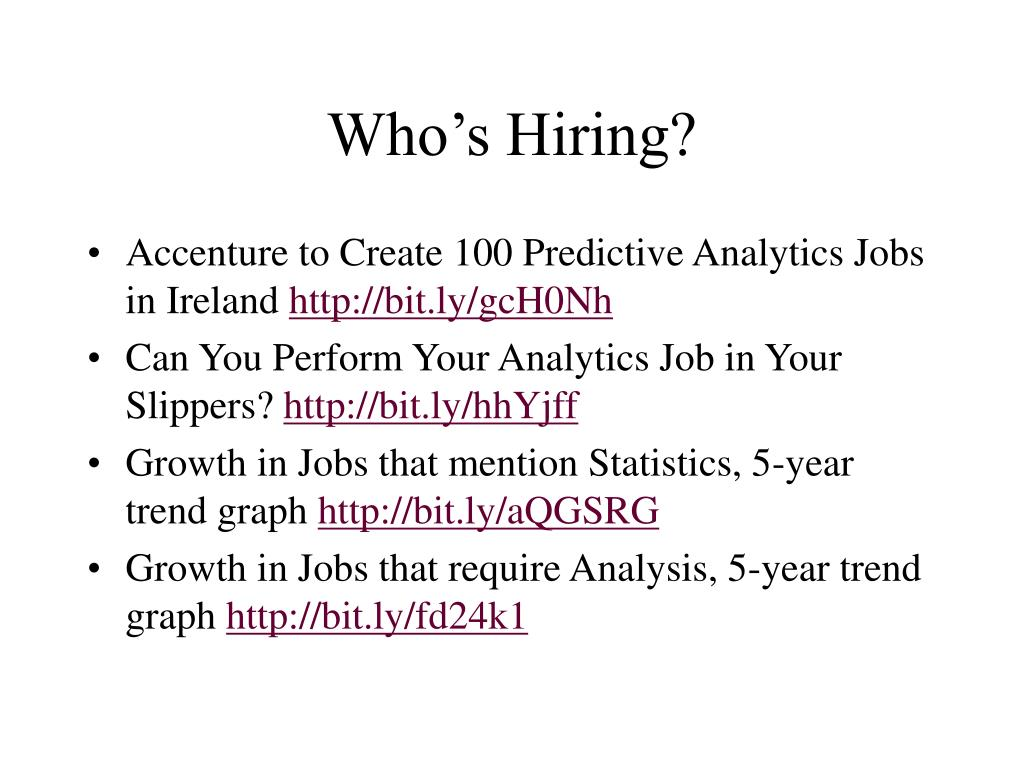 Who's Hiring?