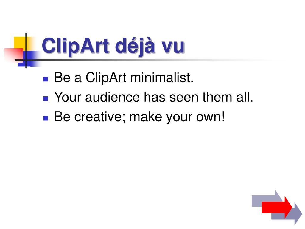 ClipArt déjà vu