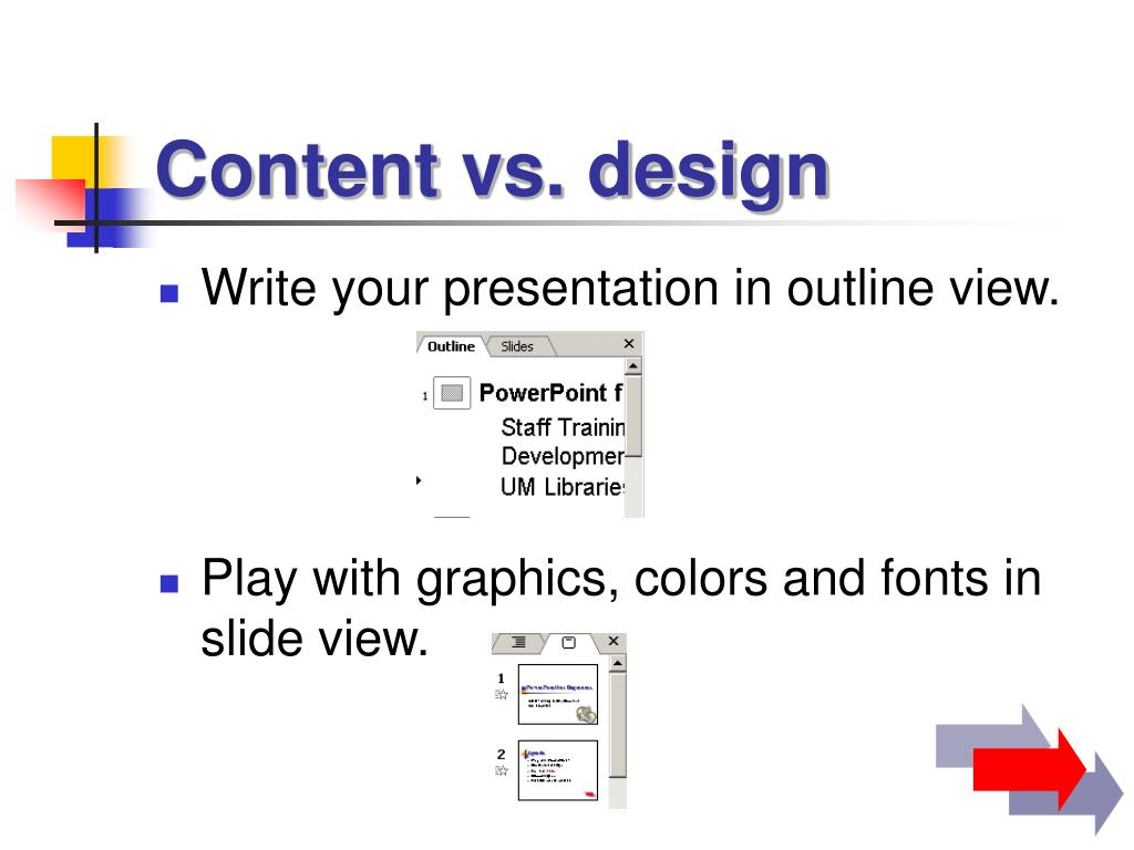 Content vs. design