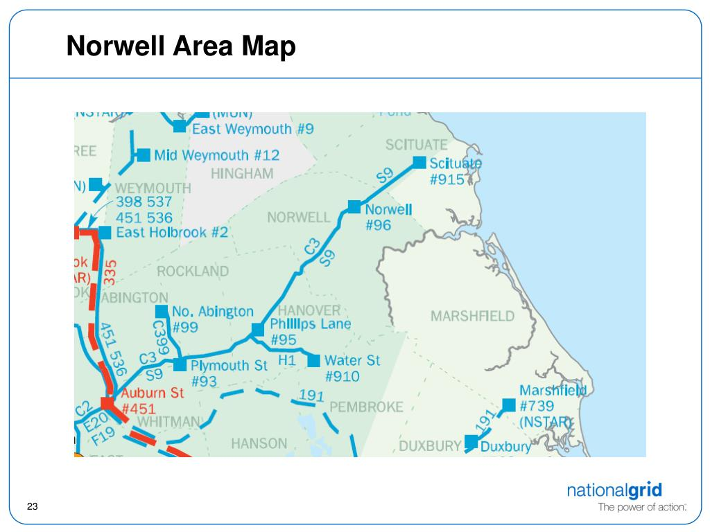 Norwell Area Map