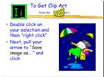 to get clip art from the cont