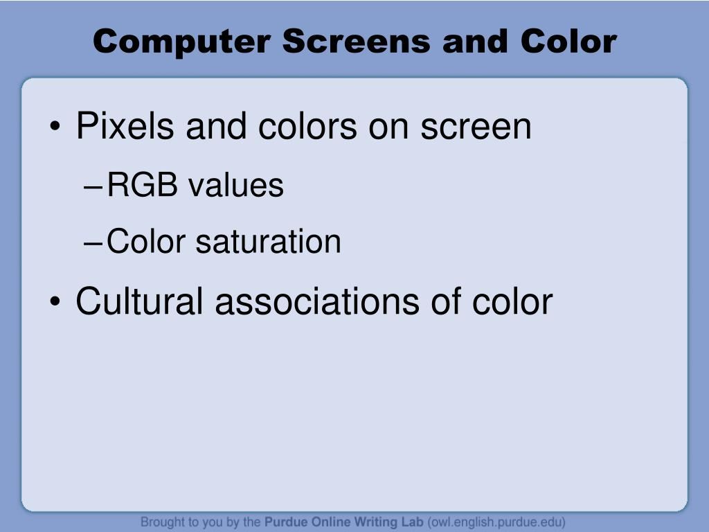 Computer Screens and Color