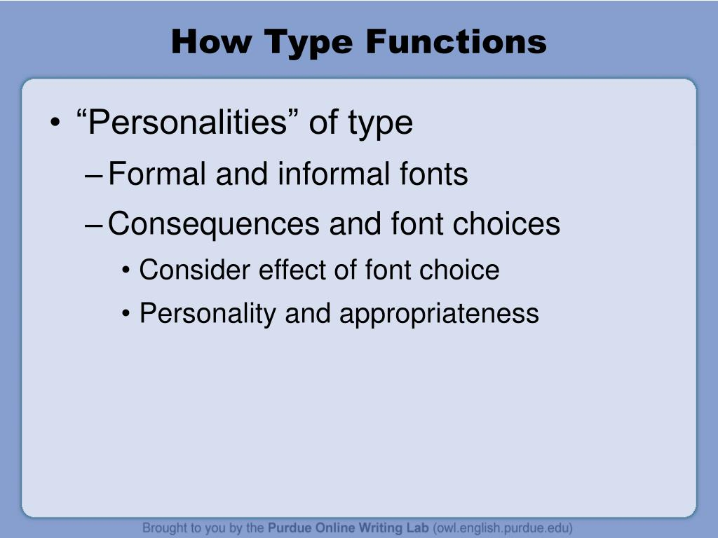 How Type Functions