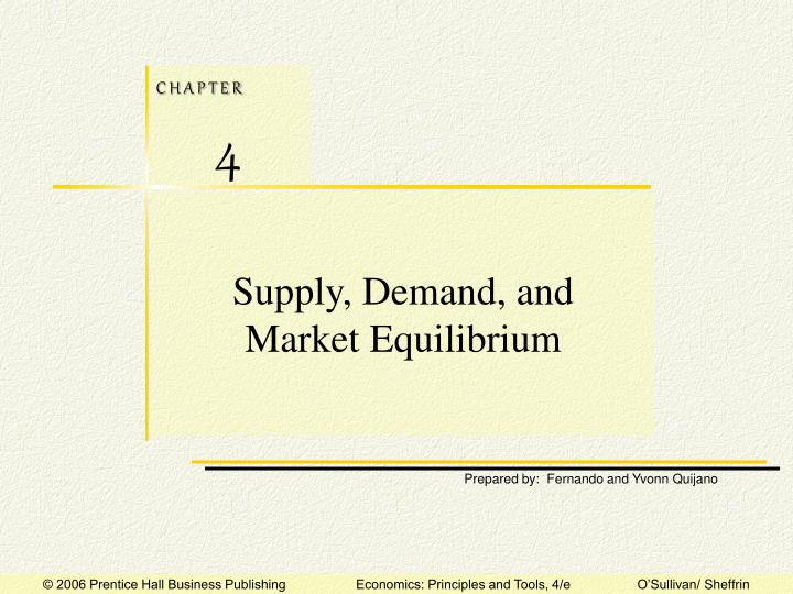 Supply demand and market equilibrium