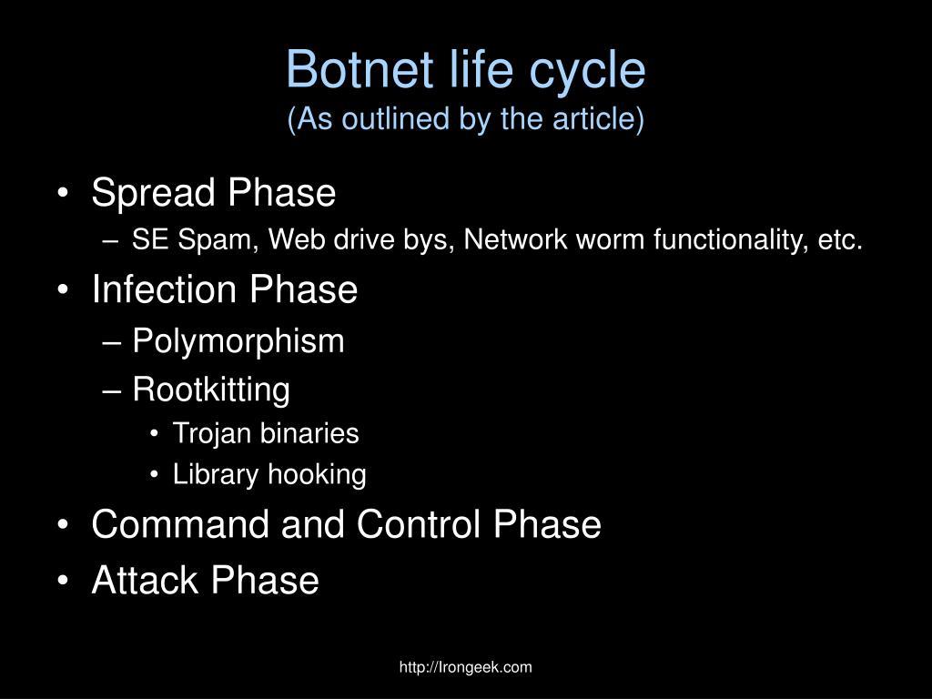 Botnet life cycle