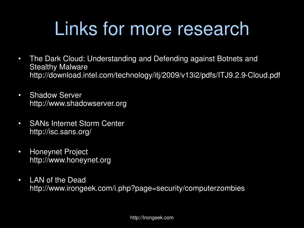 Links for more research