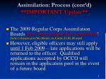 assimilation process cont d important update