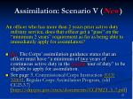 assimilation scenario v new