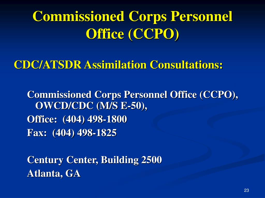 Commissioned Corps Personnel Office (CCPO)