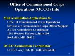 office of commissioned corps operations occo info