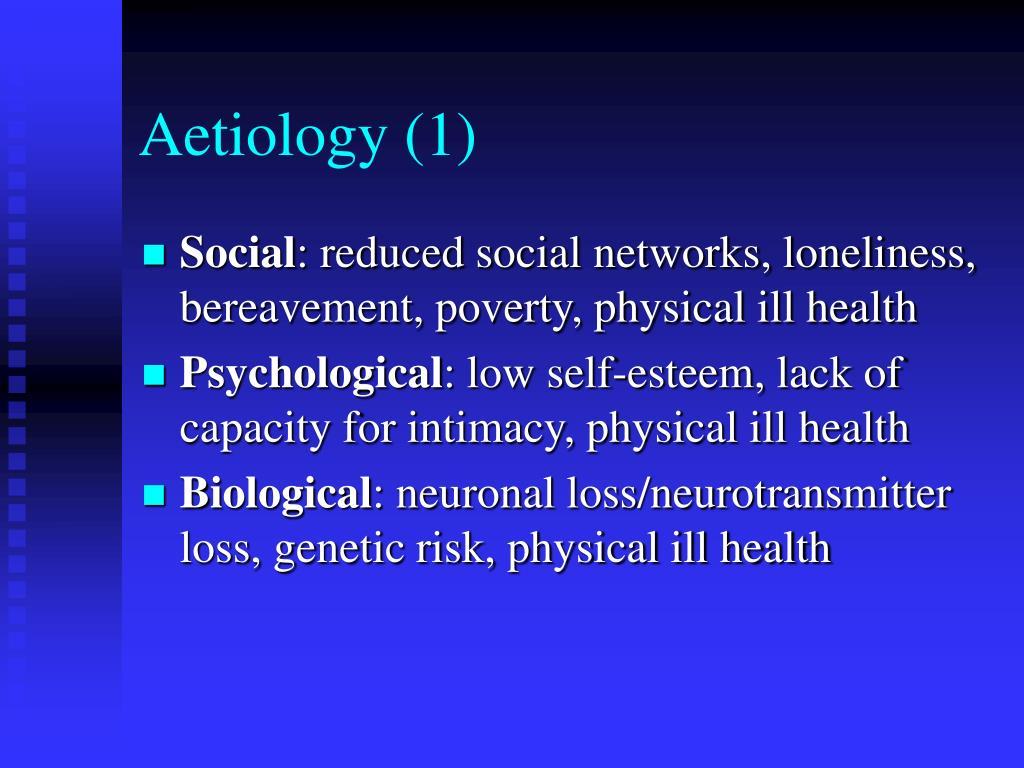 Aetiology (1)