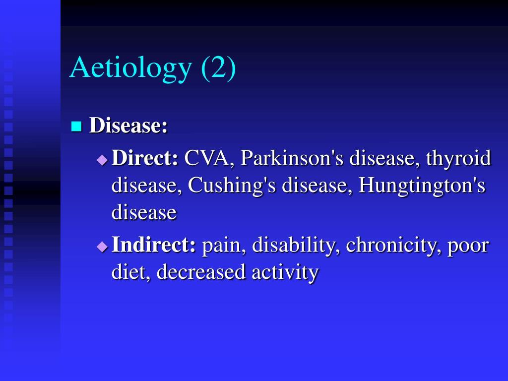 Aetiology (2)