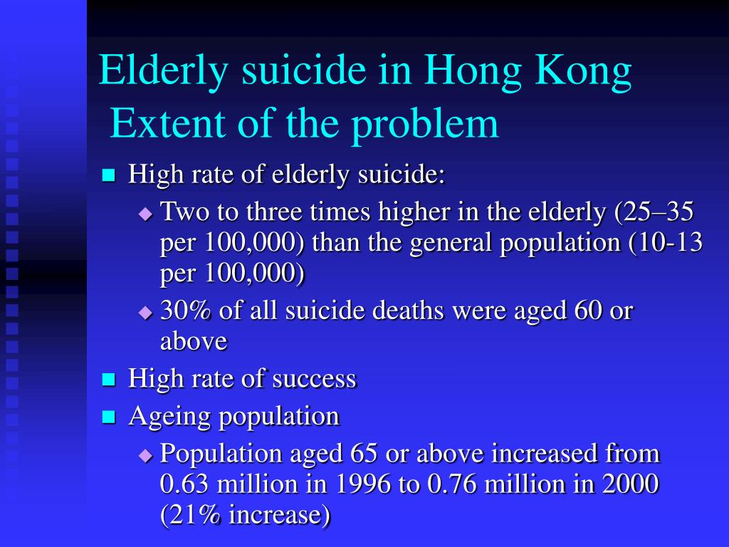 Elderly suicide in Hong Kong