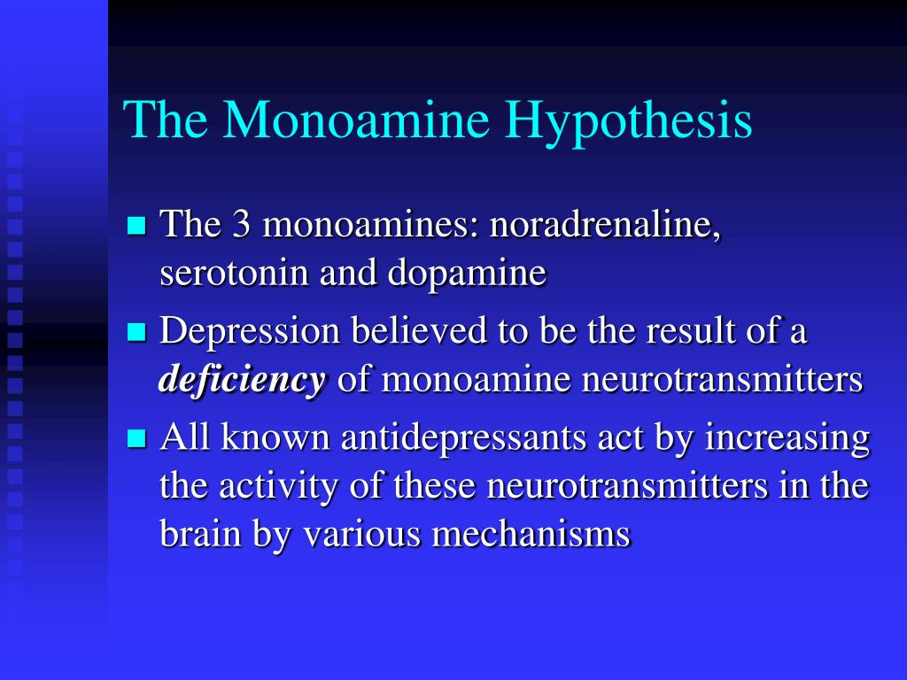 The Monoamine Hypothesis