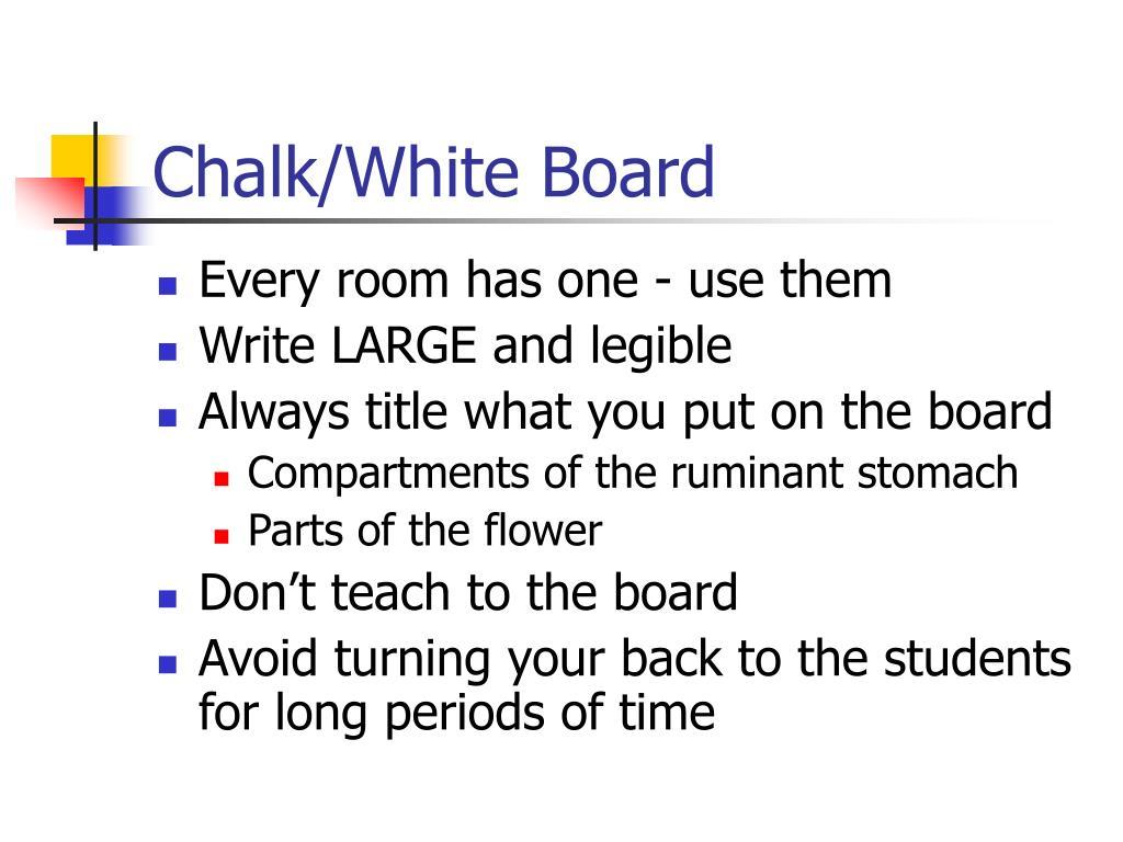 Chalk/White Board
