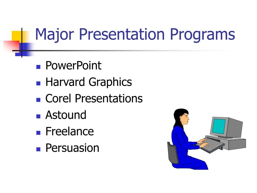 Major Presentation Programs