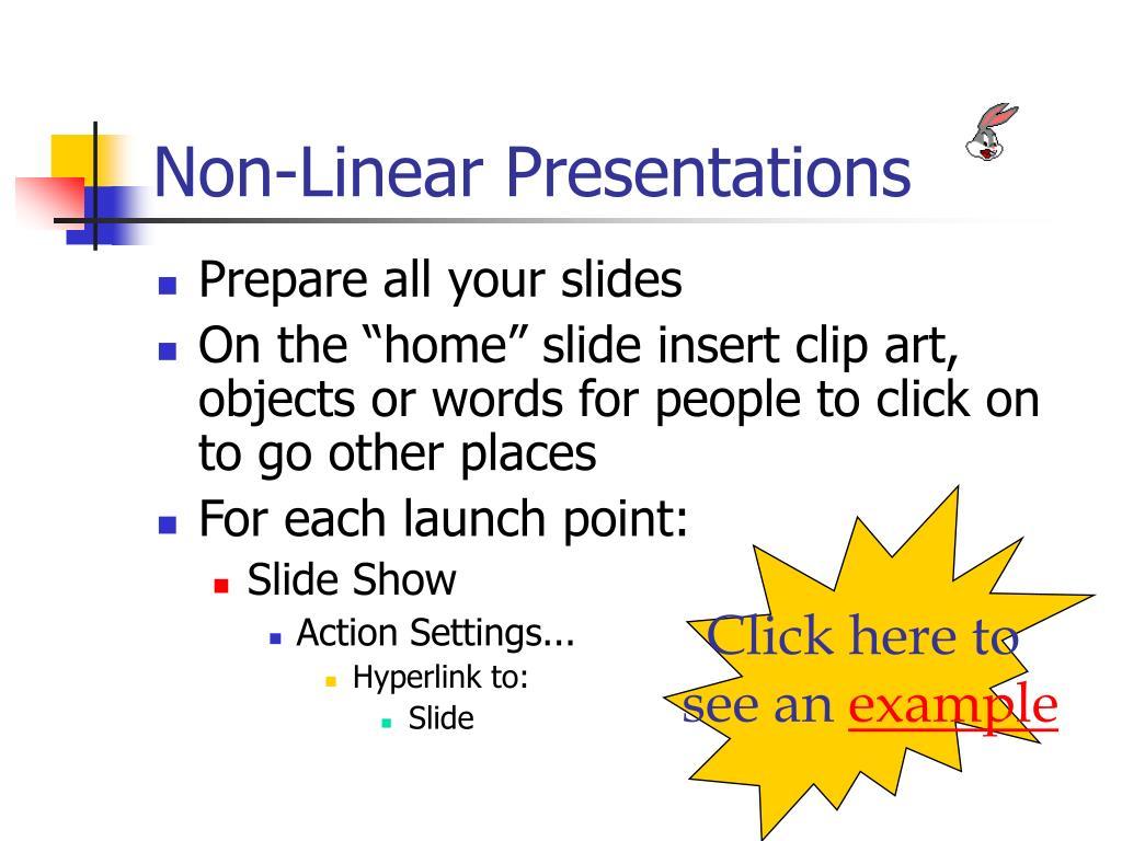 Non-Linear Presentations