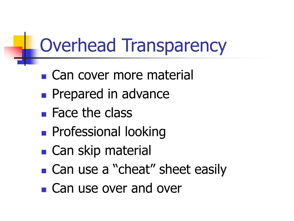 Overhead Transparency