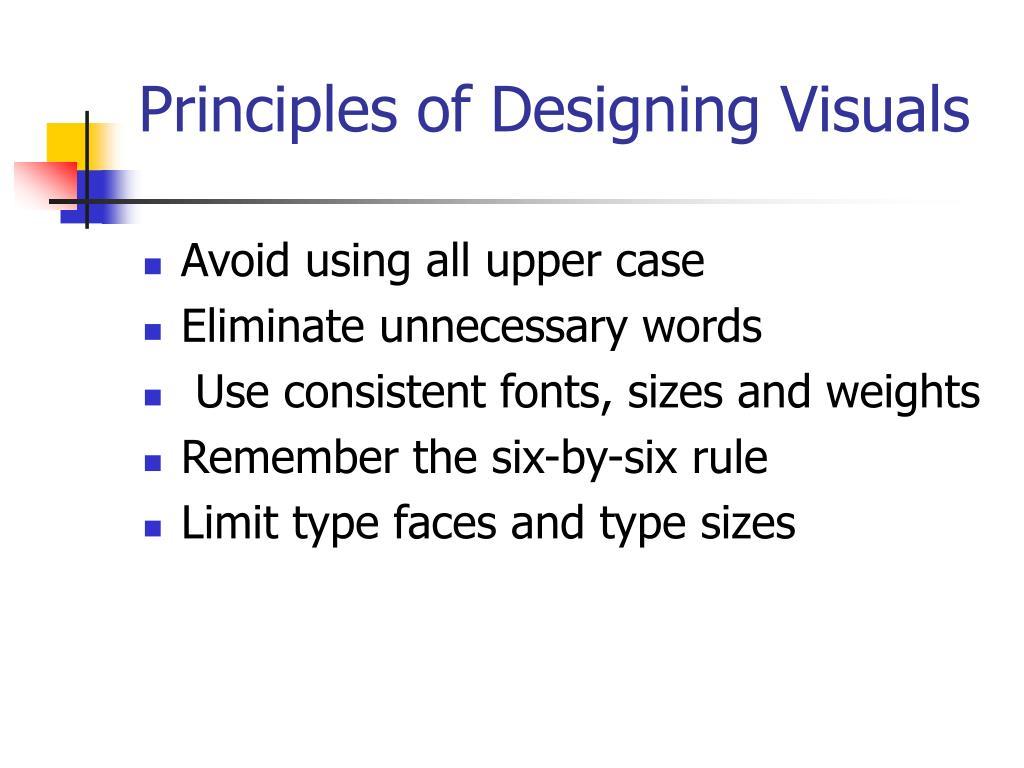 Principles of Designing Visuals