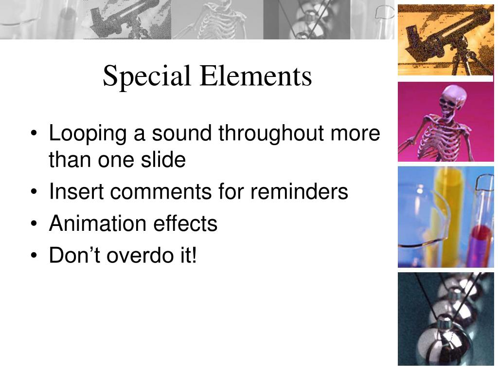 Special Elements