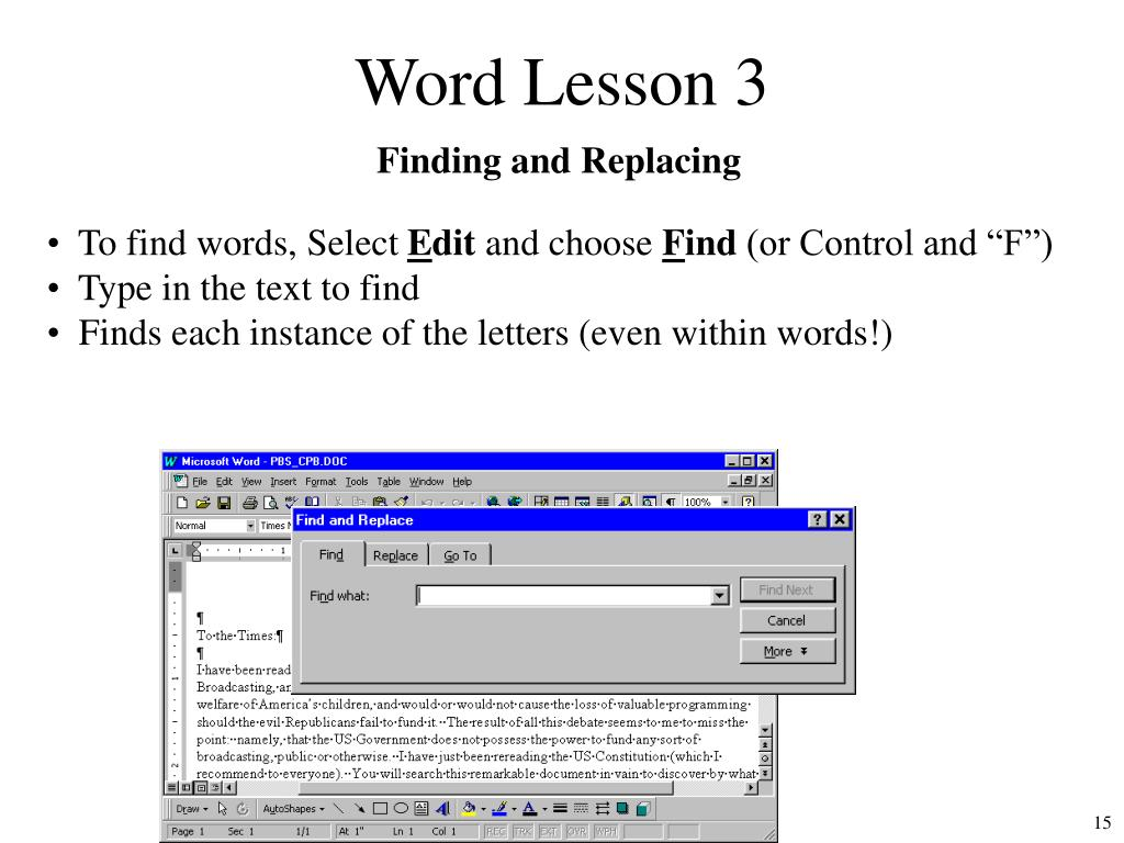 Word Lesson 3