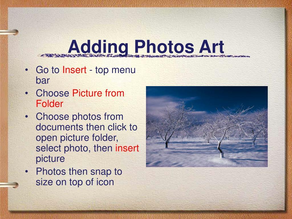 Adding Photos Art