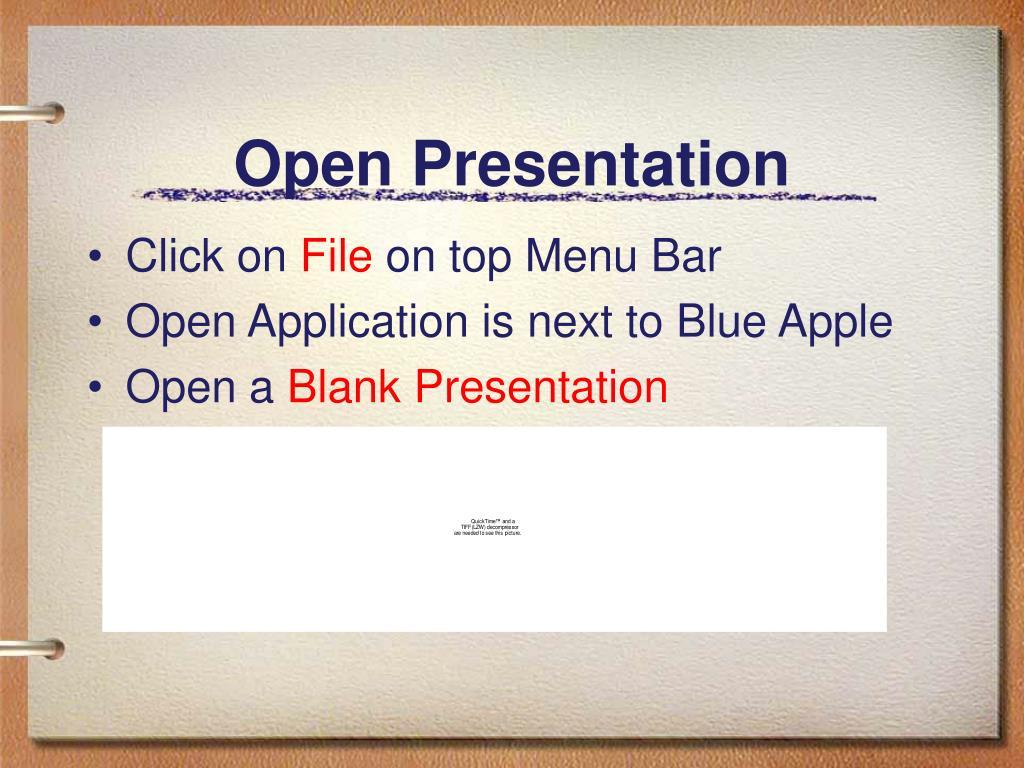 Open Presentation