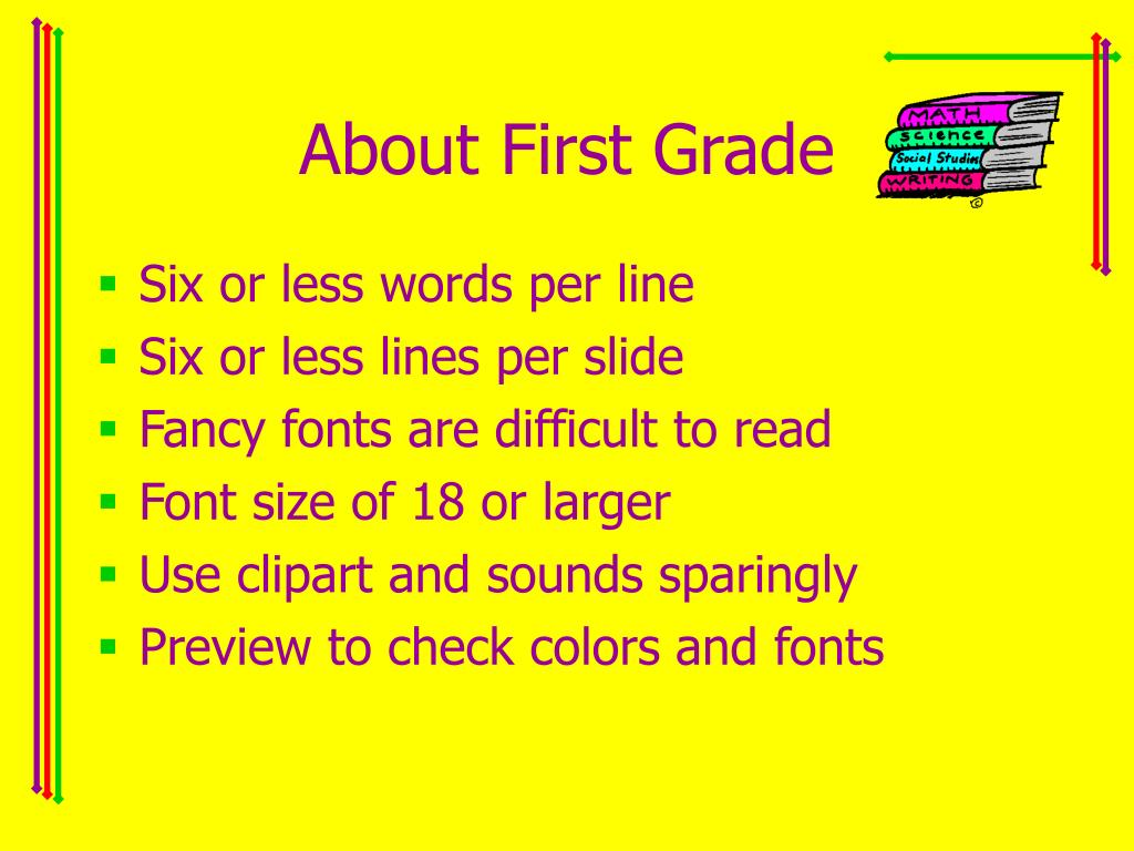 About First Grade