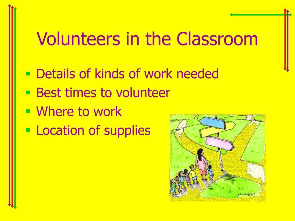 Volunteers in the Classroom