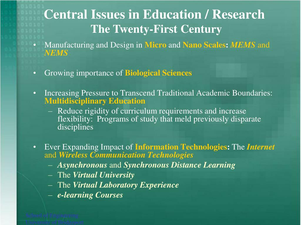 Research problems in education