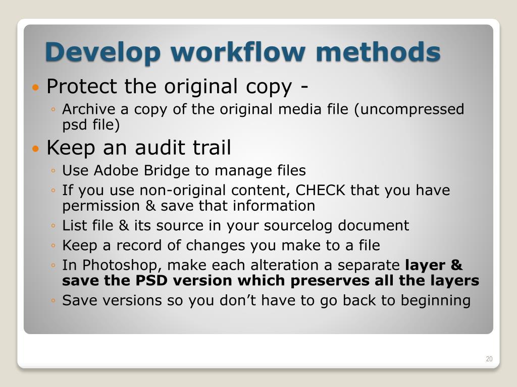 Protect the original copy -
