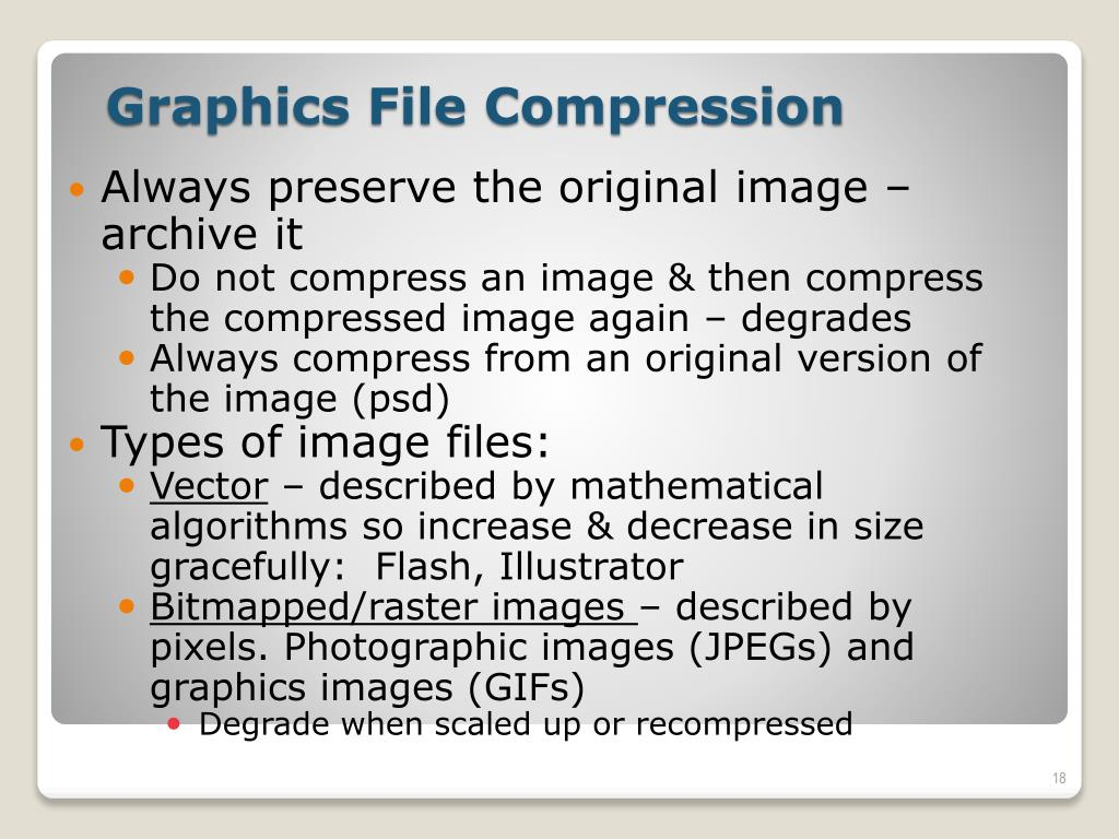 Always preserve the original image – archive it