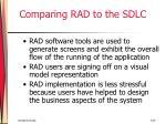 comparing rad to the sdlc