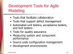 development tools for agile modeling53