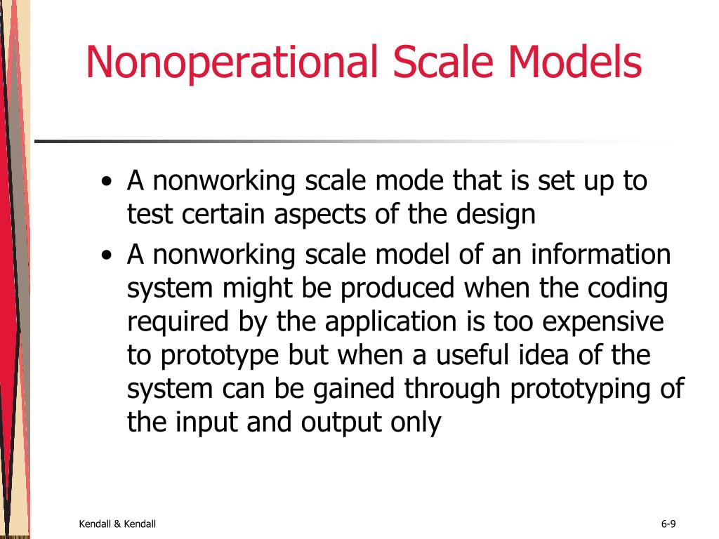 Nonoperational Scale Models