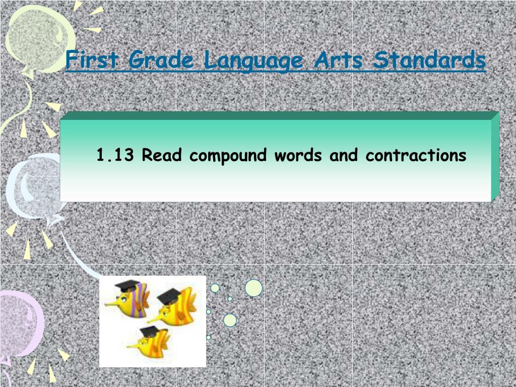 First Grade Language Arts Standards