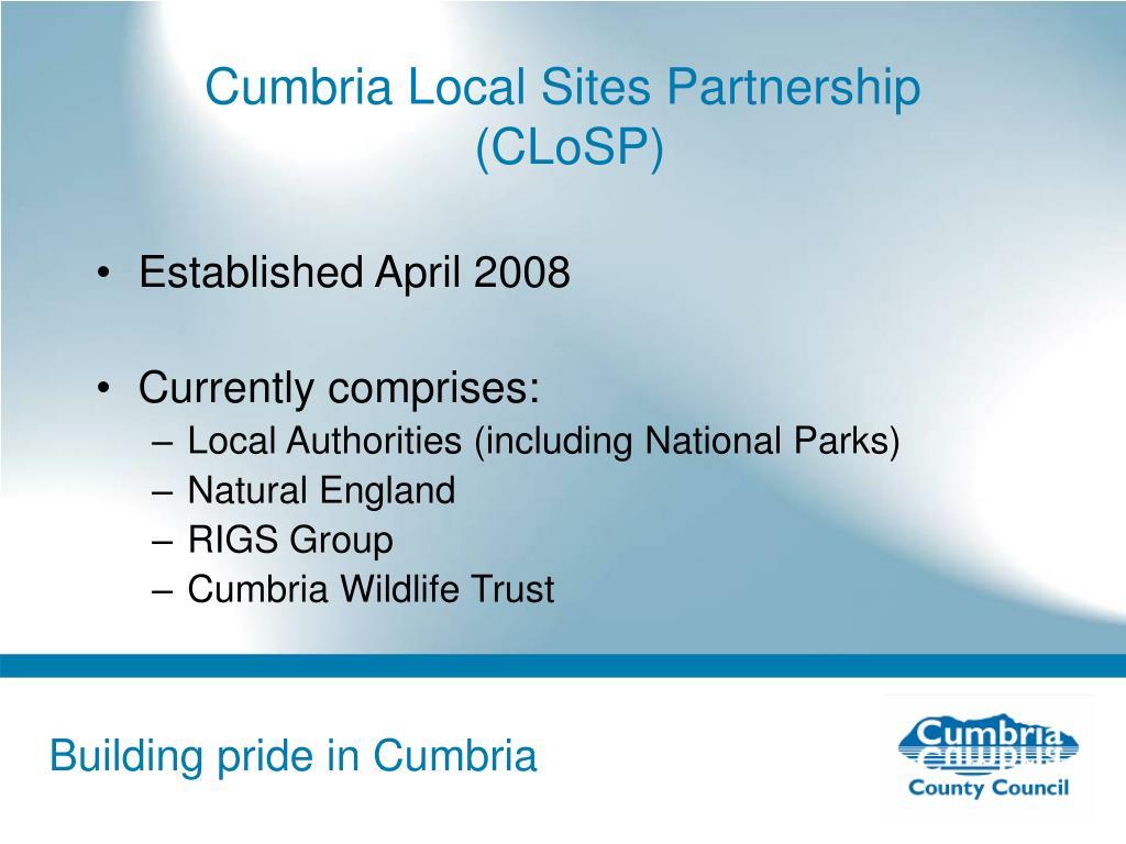 Cumbria Local Sites Partnership