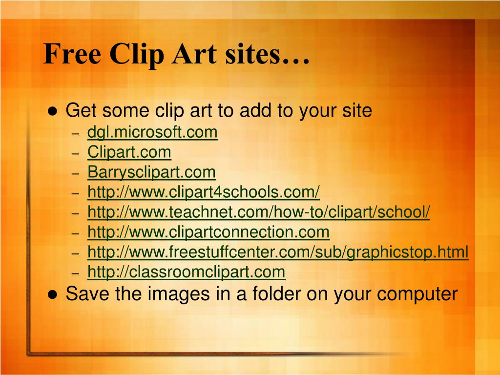 Free Clip Art sites…