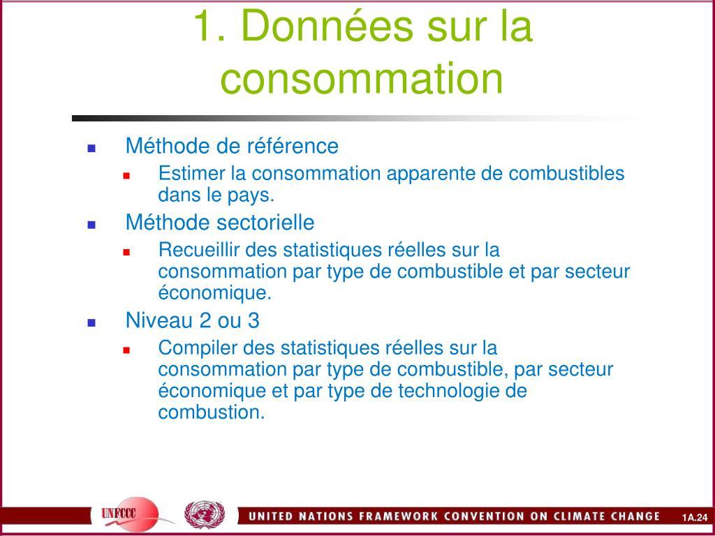 1. Données sur la consommation