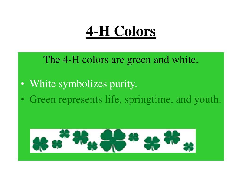 4-H Colors