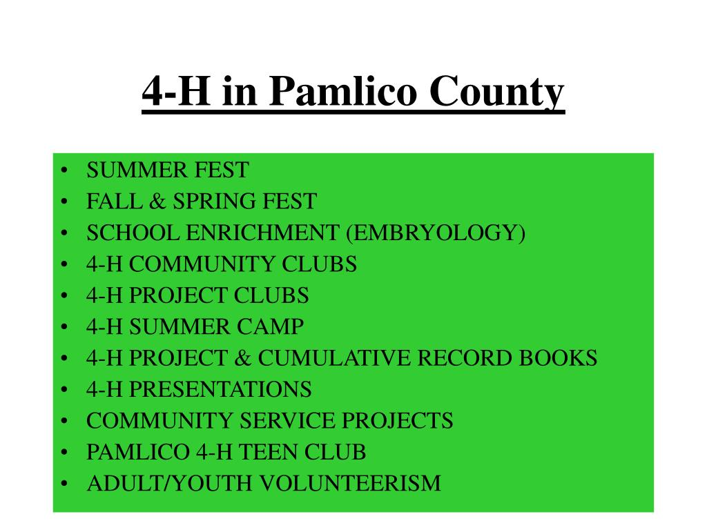 4-H in Pamlico County
