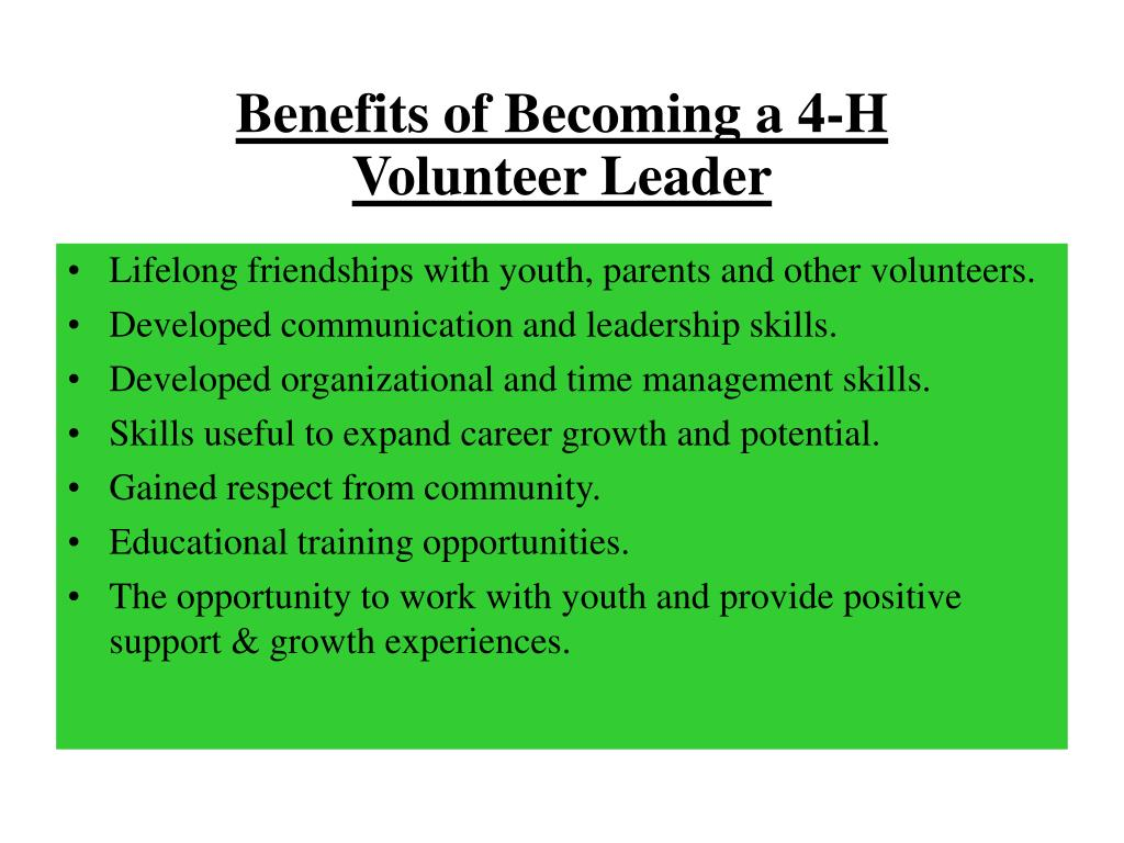 Benefits of Becoming a 4-H