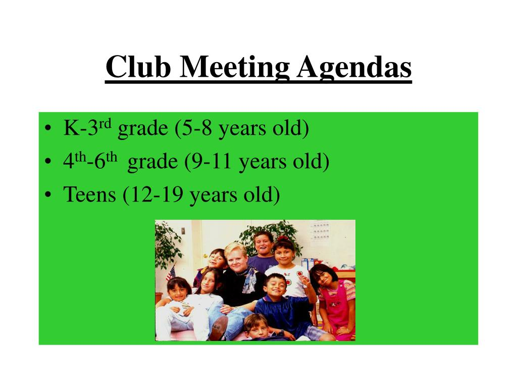 Club Meeting Agendas
