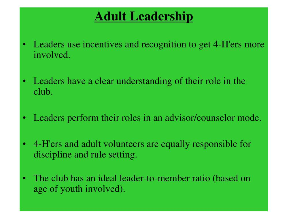 Adult Leadership