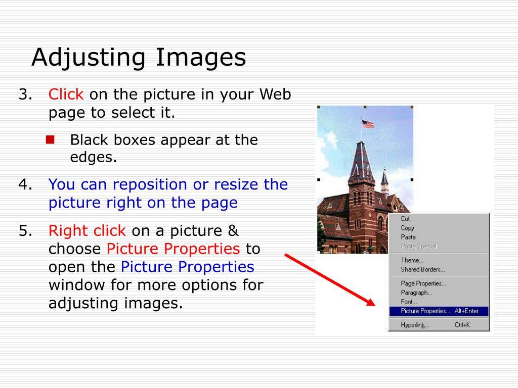 Adjusting Images