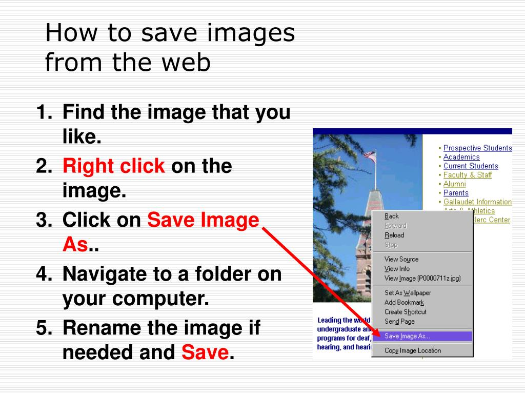 How to save images